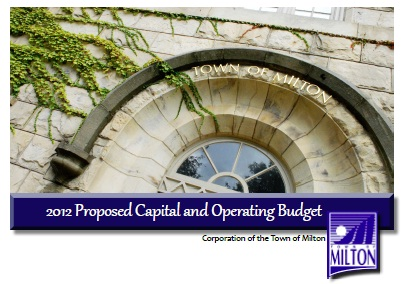 2012 Town of Milton Budget